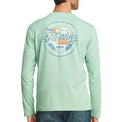 IZOD Mens Deep Sea Tour Long Sleeve T-Shirt