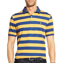 IZOD Mens Advantage Performance Striped Print Polo Shirt