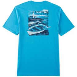IZOD Mens Saltwater Ive's Point East Short Sleeve T-Shirt