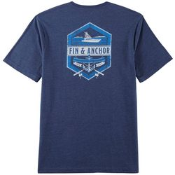 IZOD Mens Saltwater Fin & Anchor Short Sleeve T-Shirt