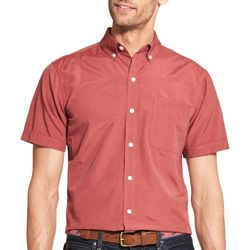 IZOD Mens Solid Woven Button Down Shirt