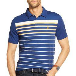 IZOD Mens Advantage Performance Striped Polo Shirt