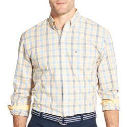 IZOD Mens Glenn Plaid Button Down Long Sleeve Shirt
