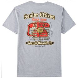 Grey & Disorderly Mens Senior Citizen Texting Code T-Shirt