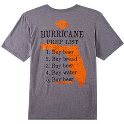 Florida Strong Mens Hurricane Prep List Graphic T-Shirt