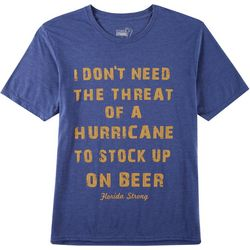 Florida Strong Mens Hurricane Stock Up Graphic T-Shirt