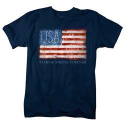 Authentic Classics Mens Stars & Stripes Flag T-Shirt