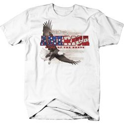 Authentic Classics Mens Land of the Brave T-Shirt