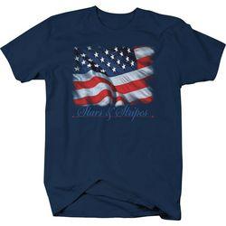 Authentic Classics Mens Stars & Stripes Crew T-Shirt