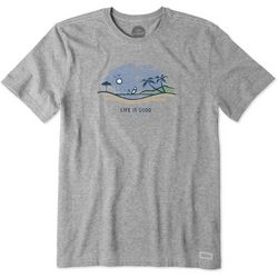 Life Is Good Mens Life Is Good Beach Vista Crusher T-Shirt