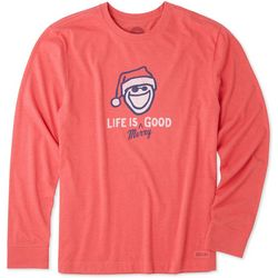Life Is Good Mens Life Is Merry Good T-Shirt