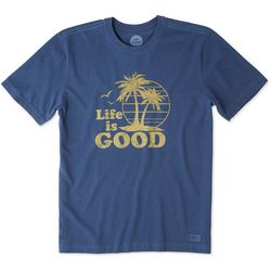 Life Is Good Mens Vintage Palms Crusher T-Shirt