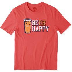 Life Is Good Mens Beer Happy T-Shirt 6a5c1556cb23