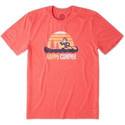 Life Is Good Mens Happy Camper T-Shirt