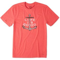 Life Is Good Mens Nautical Anchor T-Shirt