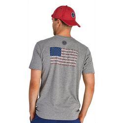 Life Is Good Mens Star Spangled Banner Flag Crusher T-Shirt