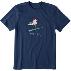 Life Is Good Mens Keep It Salty Seagull Crusher T-Shirt