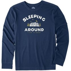 Life Is Good Mens Sleeping Around Long Sleeve T-Shirt