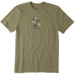 Life Is Good Mens Guitar Jake Vintage Crusher T-Shirt