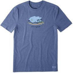 Life Is Good Mens Windsurf Vista Vintage Crusher T-Shirt