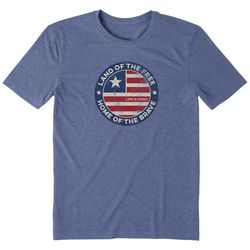 Life Is Good Mens Land Of The Free Crusher T-Shirt