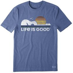 Life Is Good Mens Guitar Dog Crusher T-Shirt
