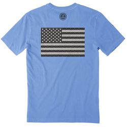 Life Is Good Mens Pattern Flag Crusher T-Shirt