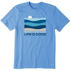 Life Is Good Mens Take Me To The Ocean Graphic T-Shirt