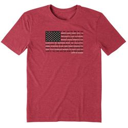 Life Is Good Mens Star Spangled Banner Flag Graphic T-Shirt