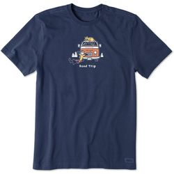 Life Is Good Mens Jake & Rocket Road Trip Crusher T-Shirt