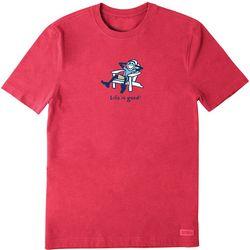 Life Is Good Mens Adirondack Jake Vintage Crusher T-Shirt