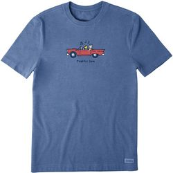 Life Is Good Mens Jake and Rocket Traffic Jam T-Shirt