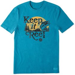 Life Is Good Mens Keep It Reel Crusher T-Shirt