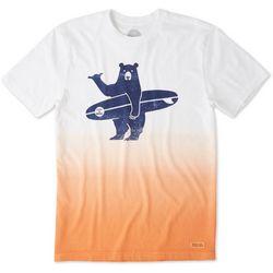 Life Is Good Mens Surf Bear T-Shirt