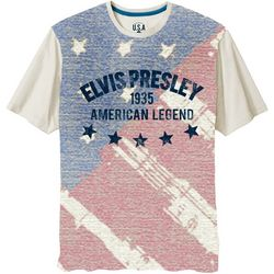 Elvis Presley American Legend Flag Short Sleeve T-Shirt