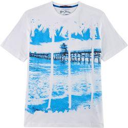 Elvis Presley Blue Hawaii Palm Pier Short Sleeve T-Shirt