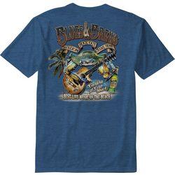Paradise Shores Mens Blues & Brews Heathered T-Shirt