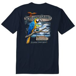 Paradise Shores Mens Screaming Parrot T-Shirt