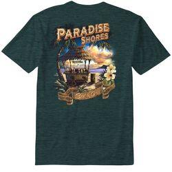Paradise Shores Mens Heather Palapa T-Shirt