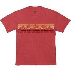 Paradise Shores Mens Heathered Sunset T-Shirt