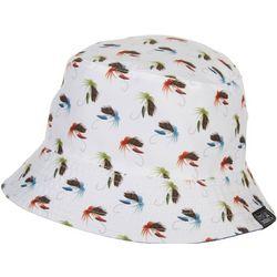 Grey & Disorderly Mens Fishing Hooks Reversible Bucket Hat