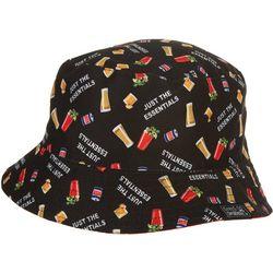 Grey & Disorderly Mens Drinks Reversible Bucket Hat