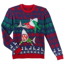 Fashion Ave. Mens Shark Duo Holiday Sweater