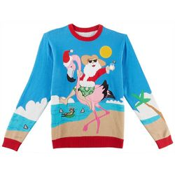 Fashion Ave. Mens Beach Santa Holiday Sweater