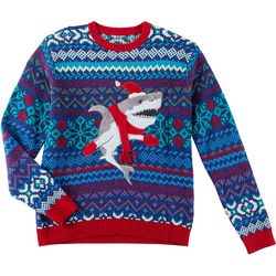 Fashion Ave Knits Mens Shark In Mittens Sweater
