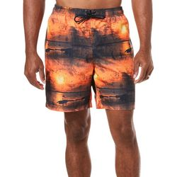 Reel Legends Mens Aquatica Sunset Grunge Boardshorts