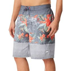 Speedo Mens Aloha Stripe Print Boardshorts