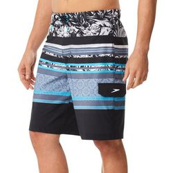 Speedo Mens Assemble Tropical Stripe Boardshorts