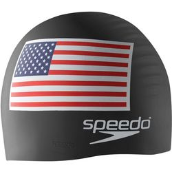 Speedo American Flag Silicone Swim Cap