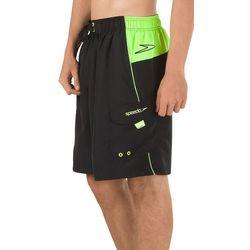 Speedo Mens Sport Neon Colorblocked Volley Shorts